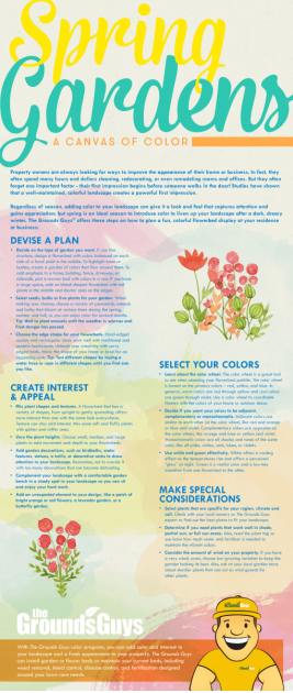 Spring Gardens: A Canvas of Color infographic